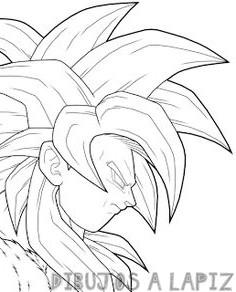dibujos de goku fase 4