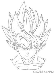 dibujos de goku fase dios