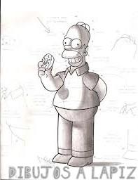 dibujos de homero simpson para dibujar