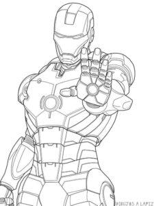 dibujos de iron man a color