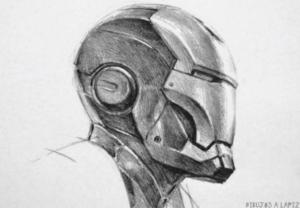 dibujos de iron man a lapiz