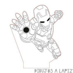 dibujos de iron man faciles