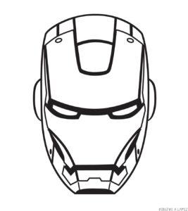 dibujos de iron man para colorear