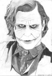 dibujos de joker para dibujar