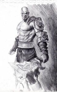 dibujos de kratos 4