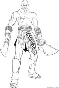 dibujos de kratos faciles 1