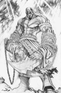 dibujos de kratos god of war 4