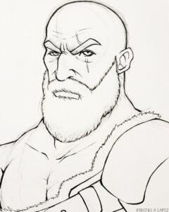 dibujos de kratos para colorear