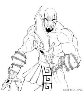 dibujos de kratos paso a paso