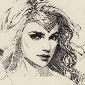 dibujos de la mujer maravilla faciles