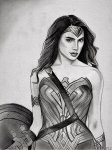 dibujos de la mujer maravilla para colorear