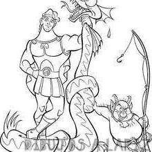 dibujos de la torre de hercules para colorear