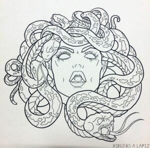dibujos de medusa diosa