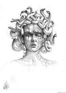dibujos de medusa gorgona
