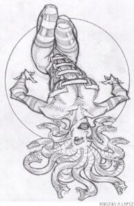 dibujos de medusa griega