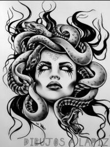 dibujos de medusa mitologia