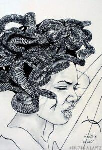 dibujos de medusa para dibujar