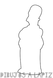 dibujos faciles de homero simpson y su familia