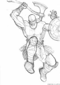 dibujos ojo de kratos