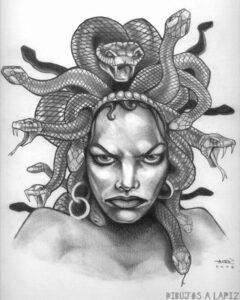 dibujos para colorear de la diosa medusa