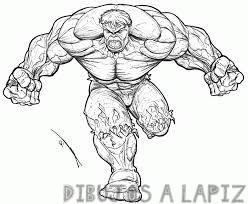 dibujos para pintar de hulk