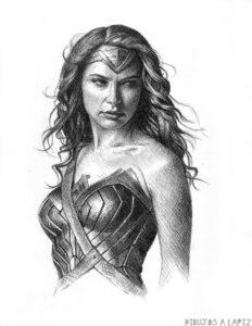 dibujos para pintar mujer maravilla