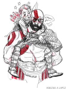 dibujos sobre kratos