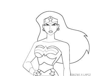 dibujos wonder woman