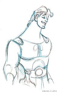 entrenador de hercules dibujos animados