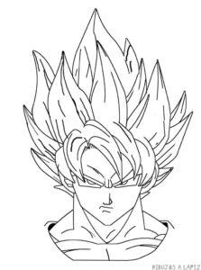 imagenes de goku para dibujar a color