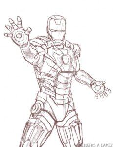 imagenes de iron man para dibujar