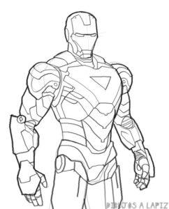imagenes de iron man para dibujar faciles