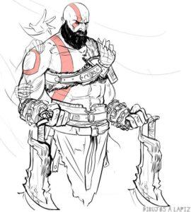 imagenes de kratos para dibujar