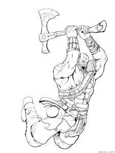 imagenes de kratos para dibujar faciles