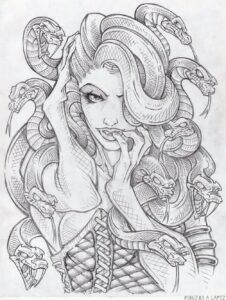 imagenes de medusa para dibujar