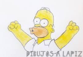 imagenes para dibujar de homero simpson