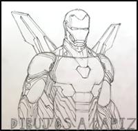 iron man para dibujar facil