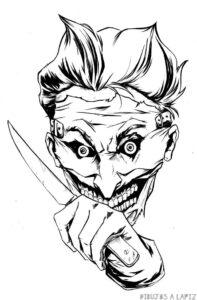 joker dibujo comic