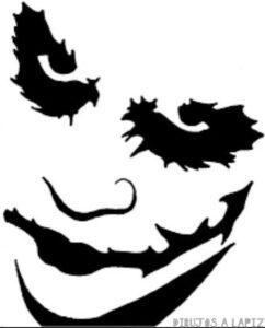 joker para dibujar