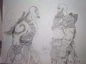 kratos para colorear