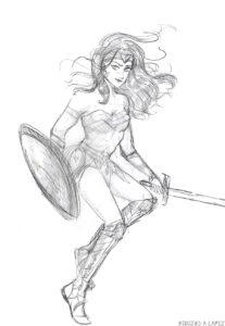 la mujer maravilla en dibujito