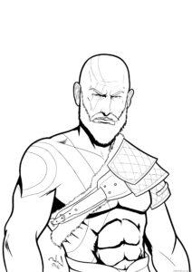 los mejores dibujos de kratos 1