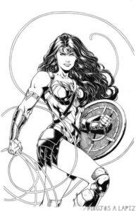 wonder woman dibujos